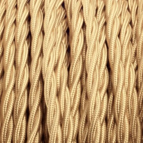 Cable Textil Trenzado Dorado