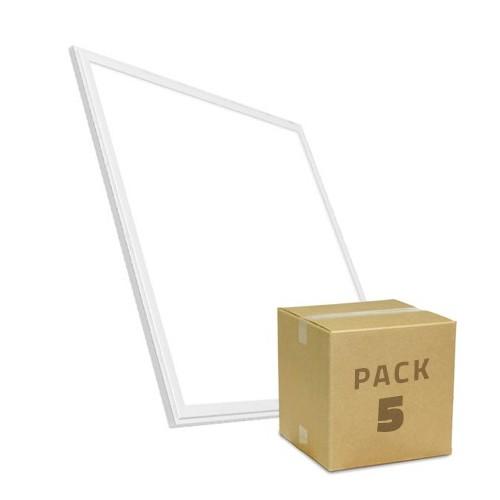 PACK Paneles LED Slim 60x60cm 40W 3800lm Marco Blanco (5x26.95€)