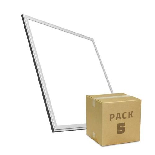 PACK Paneles LED Slim 60x60cm 40W 3800lm Marco Plata (5x26.95€)