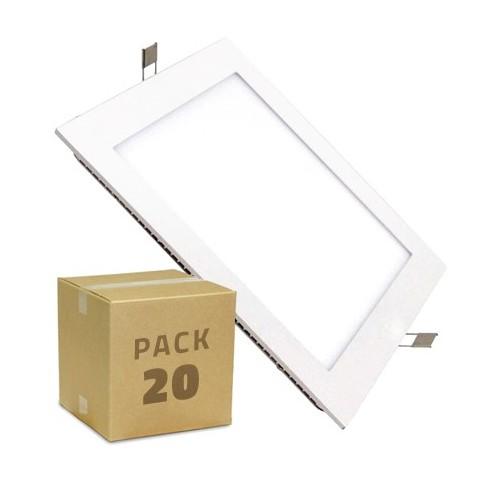 PACK Placa LED Cuadrada SuperSlim 18W (20x5.99€)