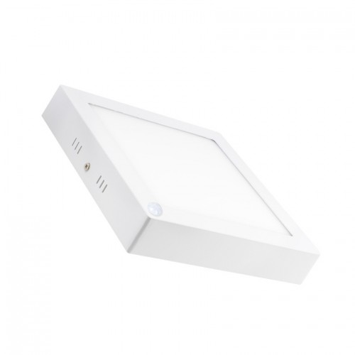 Plafón LED Cuadrado con Sensor PIR 18W