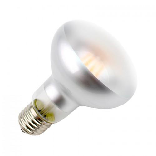 Bombilla LED E27 Regulable Filamento R80 Frost 6W