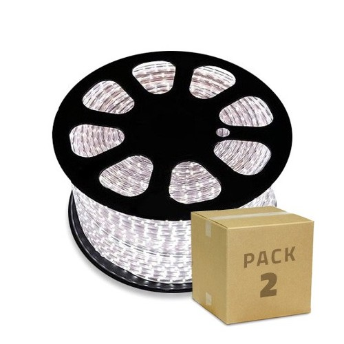 Pack Bobina de Tira LED 220V AC SMD5050 60 LED/m RGB (2x112.49€)