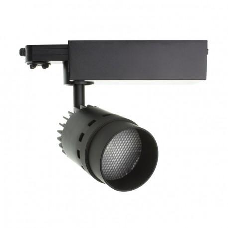 Foco LED Cannon para Carril Trifásico 20W Negro