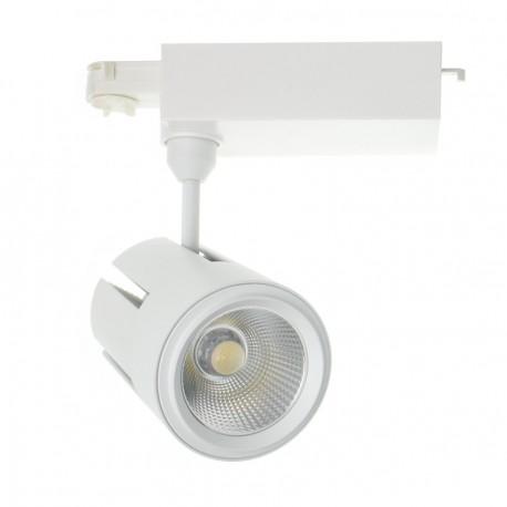Foco LED Gatling para Carril Trifásico 40W Blanco