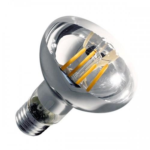 Bombilla LED E27 Regulable Filamento R80 6W