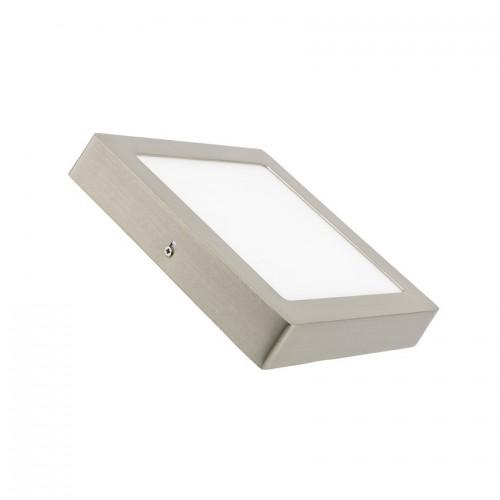 Plafón LED Cuadrado 18W Plata