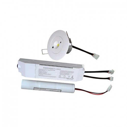Foco Downlight LED Emergencia 3W 30°